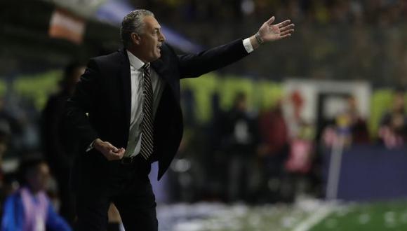Gustavo Alfaro brindó una conferencia con sabor a despedida tras eliminación de Boca Juniors. (Foto: AFP)