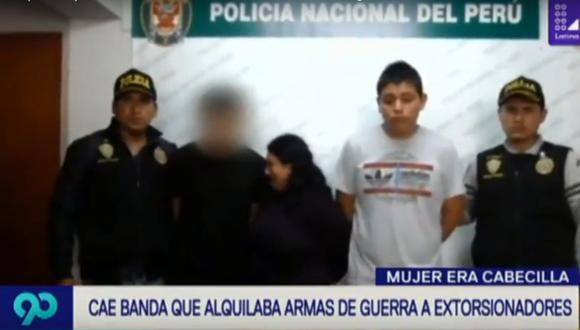 La Policía capturó a tres personas en la vivienda donde se hallaron las armas. (Foto: captura Latina)