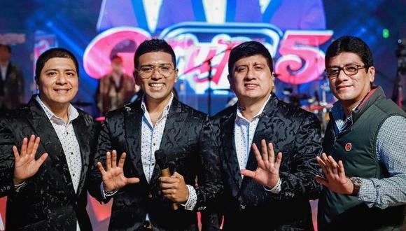 """Grupo 5 realizó su show """"Elmer vive 2020"""" y rompió récords de sintonía en redes sociales. (Foto: @grupo5oficial)"""