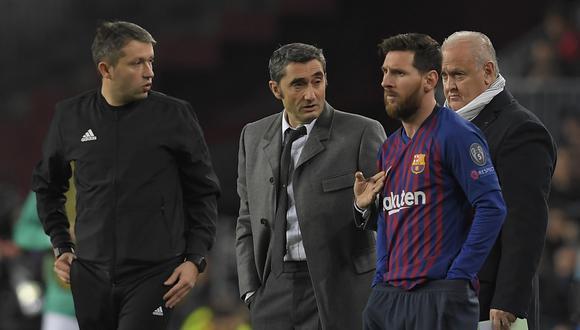 Ernesto Valverde trabajaó dos temporadas y media con Lionel Messi en Barcelona. (Foto: LLUIS GENE / AFP)