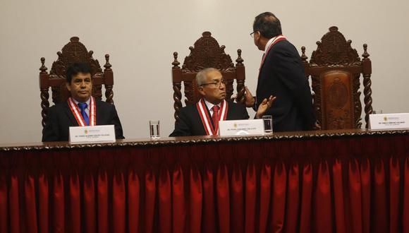 Los fiscales supremos Tomás Gálvez y Pedro Chávarry han sido vinculados a la organización criminal Los Cuellos Blancos del Púerto. (Foto: GEC)
