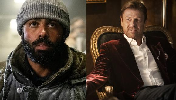 """De izquierda a derecha, Daveed Diggs y Sean Bean; que interpretan a enemigos mortales en """"Snowpiercer"""" de Netflix. (Fotos: TNT)"""