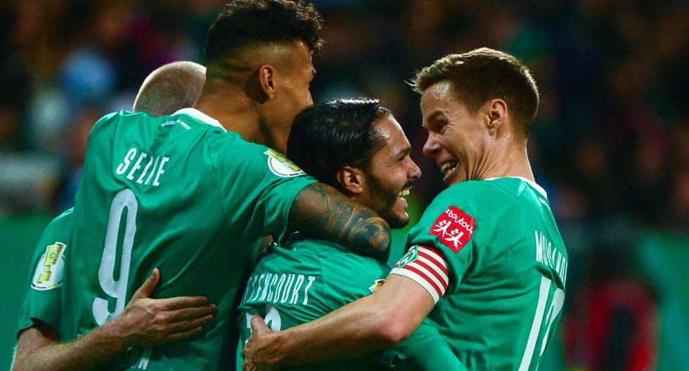 El Werder Bremen celebra su pase a cuartos de final de la Copa Alemana. (Foto: AFP)