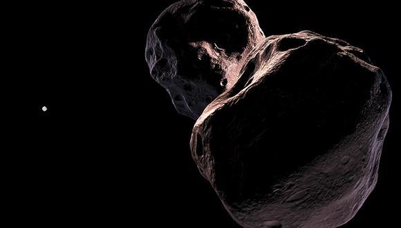 Recreación artística de Ultima Thule. (Foto:  Johns Hopkins University Applied Physics Laboratory)