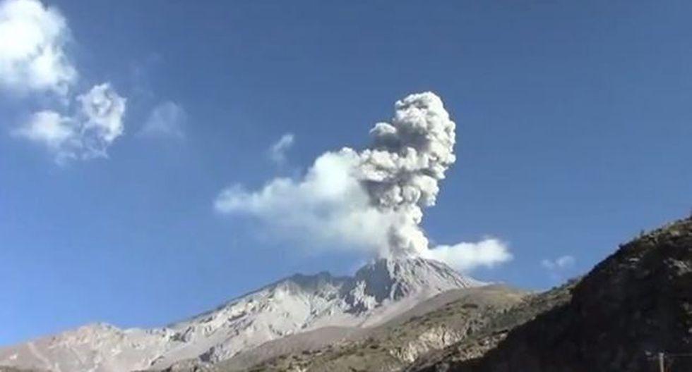 Volcán Ubinas registró nueva explosión