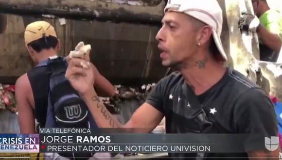 Univisión | Jorge Ramos: Este es el video que enfureció a Nicolás Maduro en la entrevista en palacio de Miraflores de Venezuela. (Captura de video de Univisión).