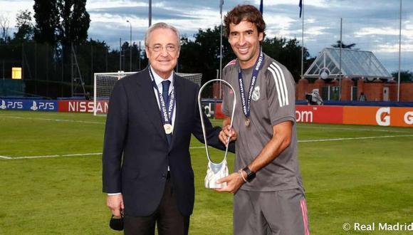 Raúl González se perfila como entrenador del prime equipo de Real Madrid. (Foto: Real Madrid)