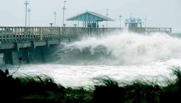 Huracán Irma provoca impresionantes olas en Florida. (Foto: AFP)
