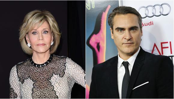 Jane Fonda y Joaquín Phoenix. (Fotos: Agencias)