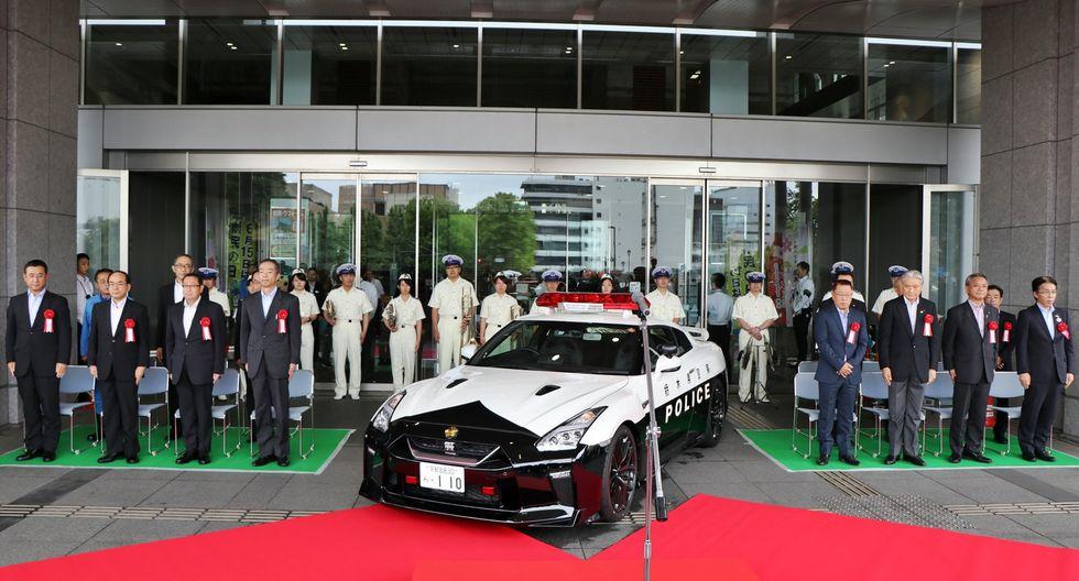 El Nissan GT-R de la Policía de Japón llega equipado de un potente motor V6 biturbo de 3.8 L y 570 caballos de potencia. (Fotos: Nissan).