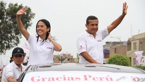 Ollanta Humala y Nadine Heredia en plena campaña de 2016. Barata afirma que Nadine le solicitó que el dinero se lo entregara directamente a ella. [Foto archivo El Comercio]
