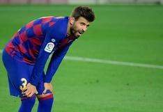 """Barcelona confirmó baja de Piqué: """"Tiene un esguince en la rodilla"""", anunció el club"""