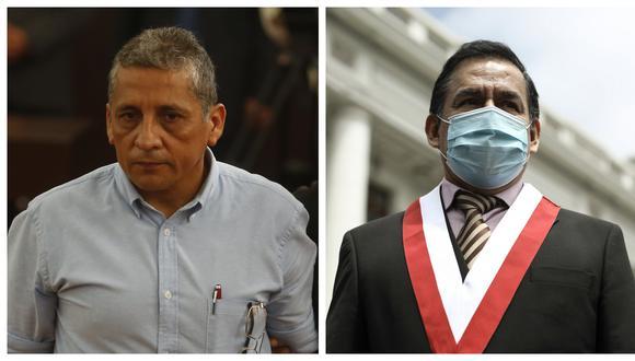 José Vega, secretario general de UPP, dijo que su agrupación pasará a adoptar el nombre Frente Patriótico Peruano, de Antauro Humala. (Fotos: Mario Zapata /Joel Alonzo / Grupo El Comercio)