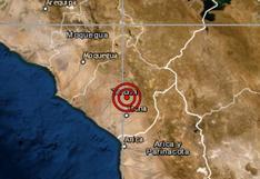 Tacna: sismo de magnitud 4 se registró en esta región, informó el IGP