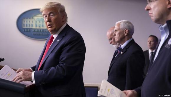 Donald Trump ha encabezado casi todas las conferencias de prensa sobre la situación del coronavirus desde la Casa Blanca. (Getty Images).