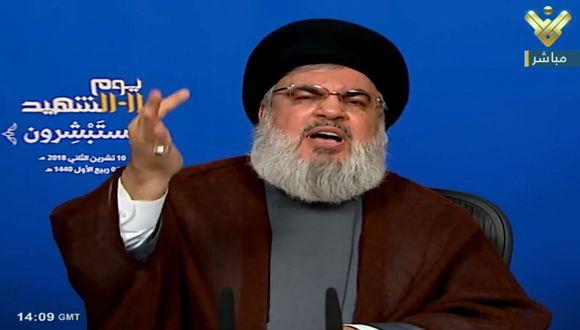 Hassan Nasrallahl, líder del movimiento chiita libanés Hezbolá. (EFE).