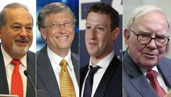Los 400 más ricos del mundo ganaron US$92.000 millones en 2014
