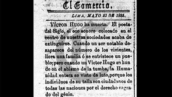 Así ocurrió: En 1885 muere Víctor Hugo, autor de Los miserables