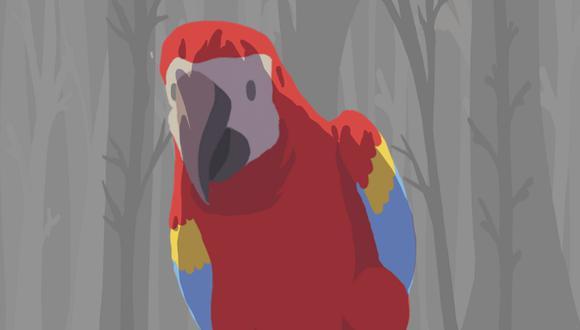 Una mamá guacamaya es la protagonista del videojuego creado para concientizar acerca del cuidado de las especies de la Amazonía. (Foto: Captura)