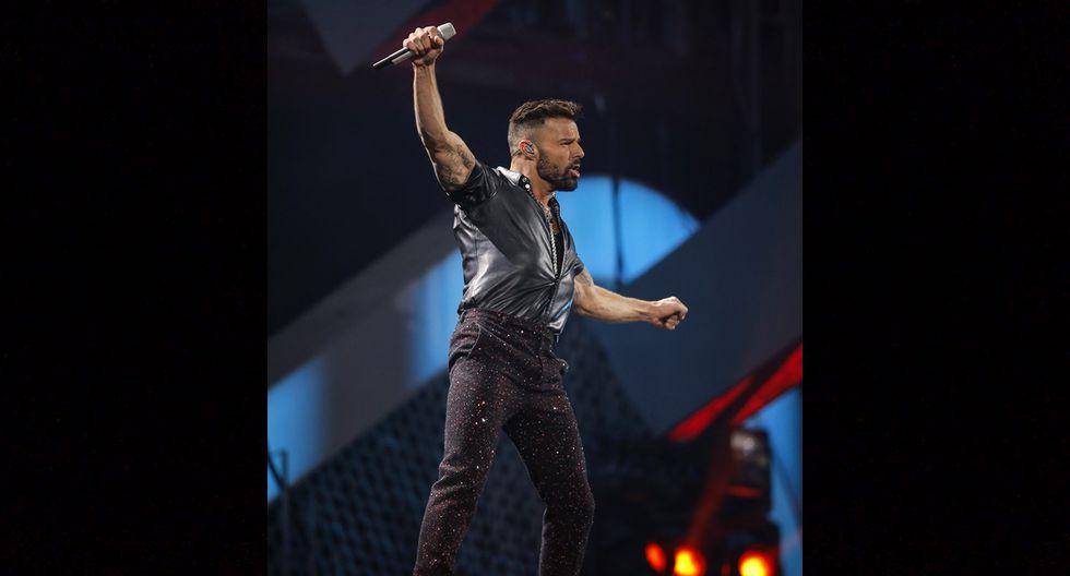 Ricky Martin en Viña del Mar 2020. Foto: AFP