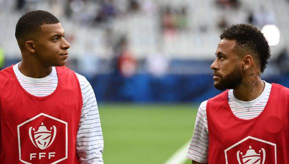 Neymar dedicó un breve mensaje a Kylian Mbappé en Instagram. (Foto: AFP)