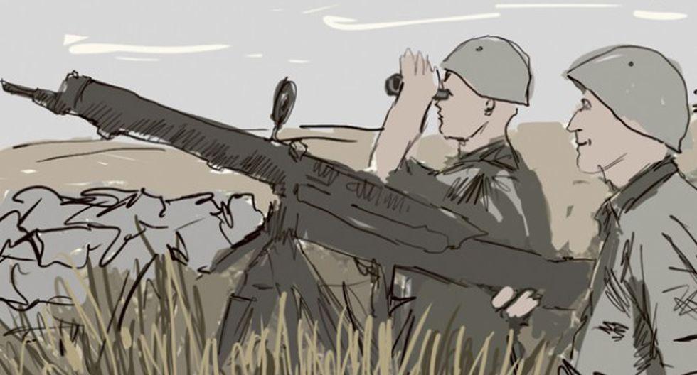 Abastecimiento de guerra. (Ilustración: Giovanni Tazza)