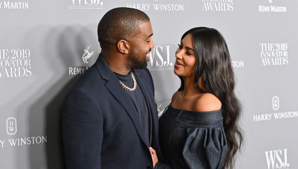 Kim Kardashian y Kanye West se divorciarán tras ocho años de matrimonio y tener cuatro hijos. (Foto: Angela Weiss / AFP)