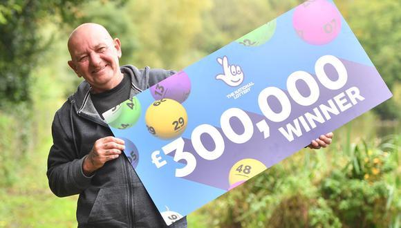 Graham Potts ganó más de 400 mil dólares en la lotería del Reino Unido. (Foto: The National Lottery)