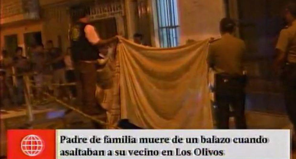 Los Olivos: matan a padre que trató de proteger a hija en robo