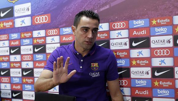 Xavi Hernández dejará de ser futbolista profesional al final de la temporada y empezará su carrera como entrenador. (Foto: AP)