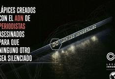 'Lápices Inmortales', la campaña para combatir la impunidad que rodea a los asesinatos de periodistas