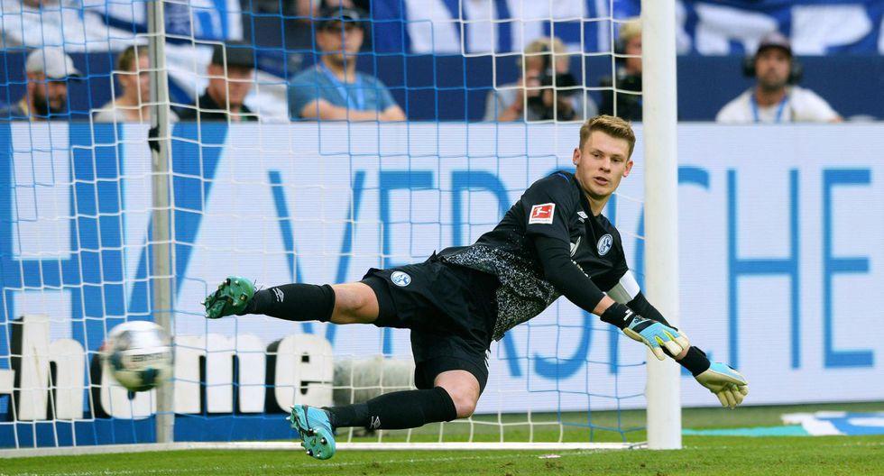 Alexander Nübel es el nuevo arquero del Bayern Múnich. Con 23 años, se perfila como el sucesor al trono de Neuer, quien tiene 33. | Foto: AFP