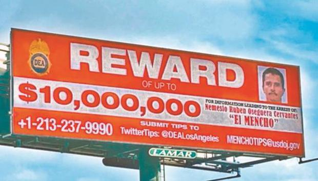 """'El Mencho' tops DEA's most wanted men list  (Photo: """"Global"""" Mexico / GTA)"""