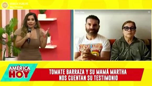 Carlos 'Tomate' Barraza se quiebra al revelar que él y sus padres se contagiaron de COVID-19. (Foto: captura de video).