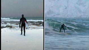 Lofoten: La aventura bajo cero de surfistas extremos