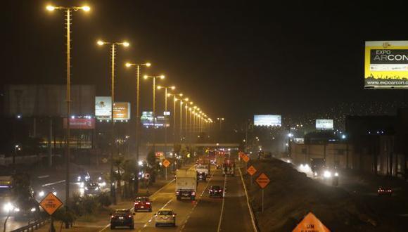 Panamericana Sur: mejora la iluminación en 10 kilómetros