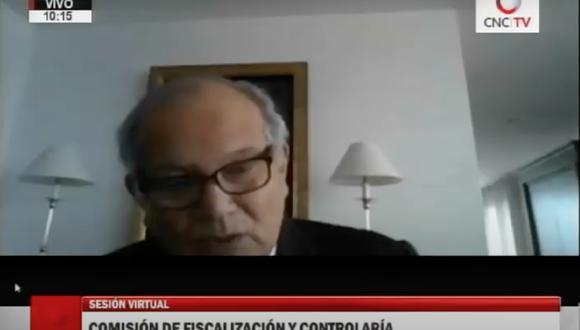 Jorge Alva Hurtado, rector de la Universidad Nacional de Ingeniería (UNI) y padre de la ministra María Antonieta Alva, se presentó ante el Congreso para responder por los contratos que firmó el consorcio Geoservice Hidroenergía con el Estado.