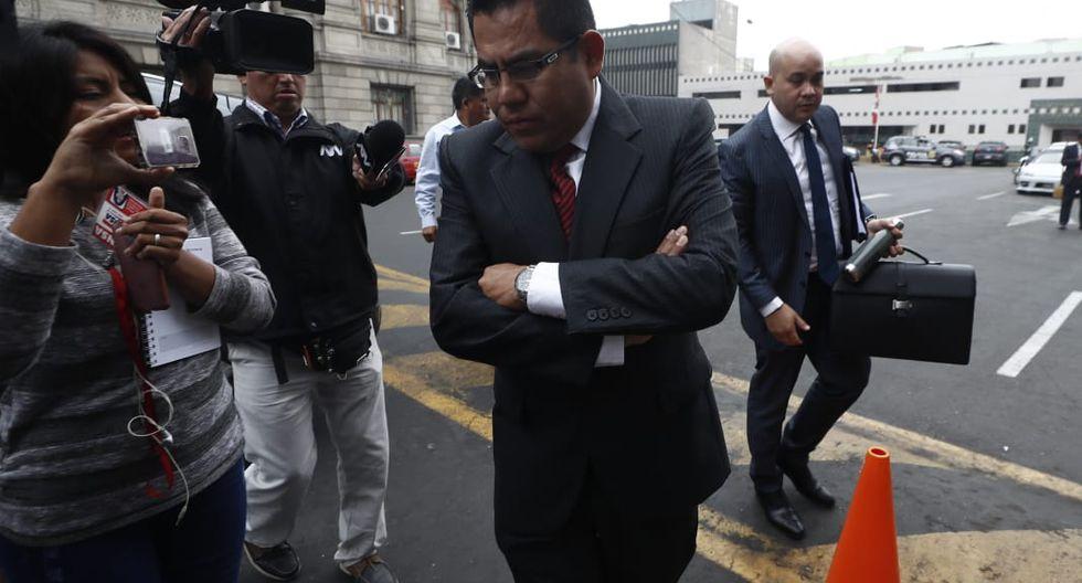 Gabriel Prado también se hizo presente en la sesión dirigida por el juezJorge Chávez Tamariz.(Foto: César Campos / GEC)
