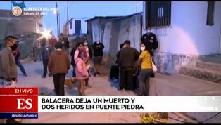 Puente Piedra: balacera deja un muerto y dos heridos