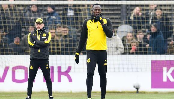 Usain Bolt, ex velocista jamaicano, aseguró que quiere jugar en una de las cinco mejores ligas de Europa. (Foto: AFP).