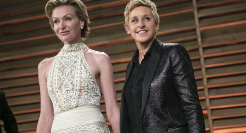 Ellen DeGeneres y Portia de Rossi celebran 10 años de matrimonio | Foto: AFP