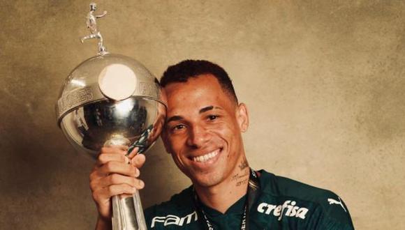 Breno Lopes marcó el gol de Palmeiras a los 99' en la final ante Santos. (Foto: @LibertadoresBR)
