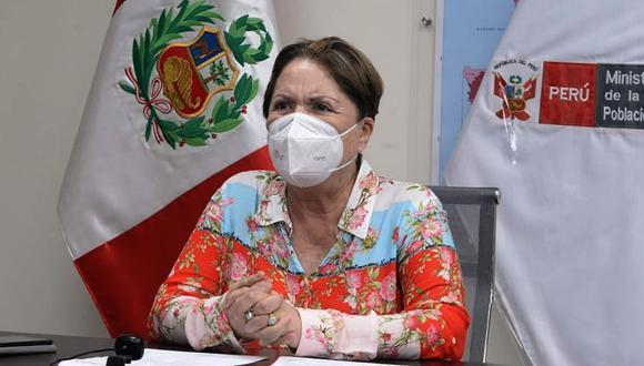 Ministra de la Mujer, Rosario Sasieta, lamentó la cantidad de mujeres asesinadas en lo que va del año. (Foto: Andina)