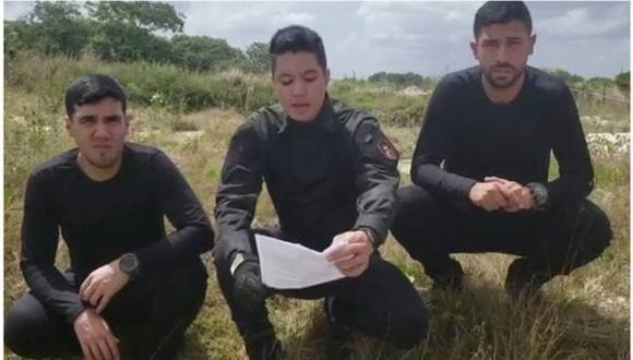 Tres supuesto militares venezolanos aparecen en un video para anunciar una sublevación contra el régimen de Nicolás Maduro. Aseguran que están en el estado Bolívar y piden a las Fuerzas Armadas evitar la confrontación con ellos.