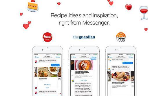 Facebook ofrece tres 'bots' para cena perfecta de San Valentín