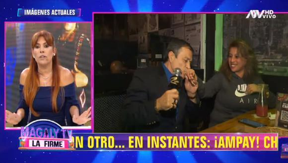 """Magaly Medina cuestiona los shows en vivo que realizan algunos artistas cómicos en los restaurantes """"Rústica"""". (Foto: Captura ATV)"""