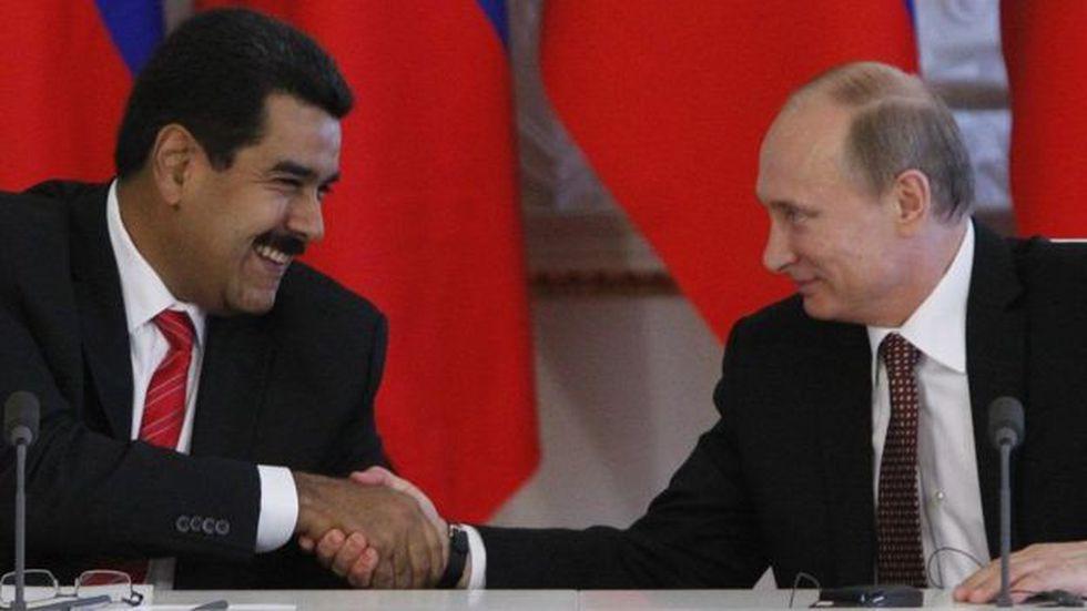 Nicolás Maduro ha encontrado en el presidente ruso, Vladimir Putin, un aliado clave. Foto: GETTY IMAGES, vía BBC Mundo