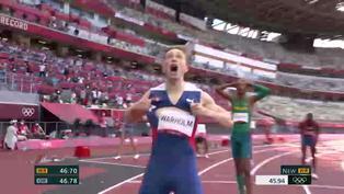 Tokio-2020: Warholm oro olímpico con récord mundial en 400 m vallas, Alison Dos Santos bronce