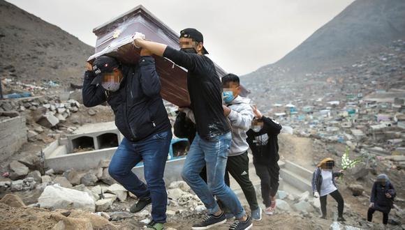 El Minsa reportó ayer 19.811 muertes por el COVID-19. Son 197 nuevos decesos respecto al domingo. (AP Photo/Rodrigo Abd)