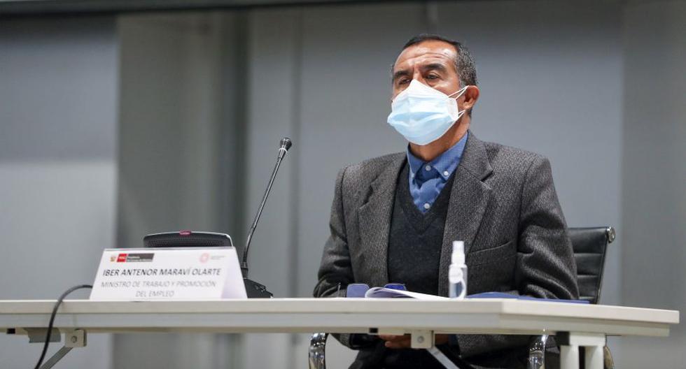 El pleno del Congreso acordó interpelar al ministro Iber Maraví el 16 de setiembre y lo citó para este jueves 30. (Foto MTPE)